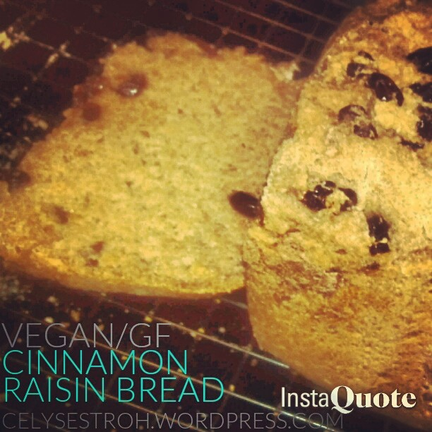Cinnamon Raisin Bread-Machine Bread Recipe [Vegan/Gluten Free]
