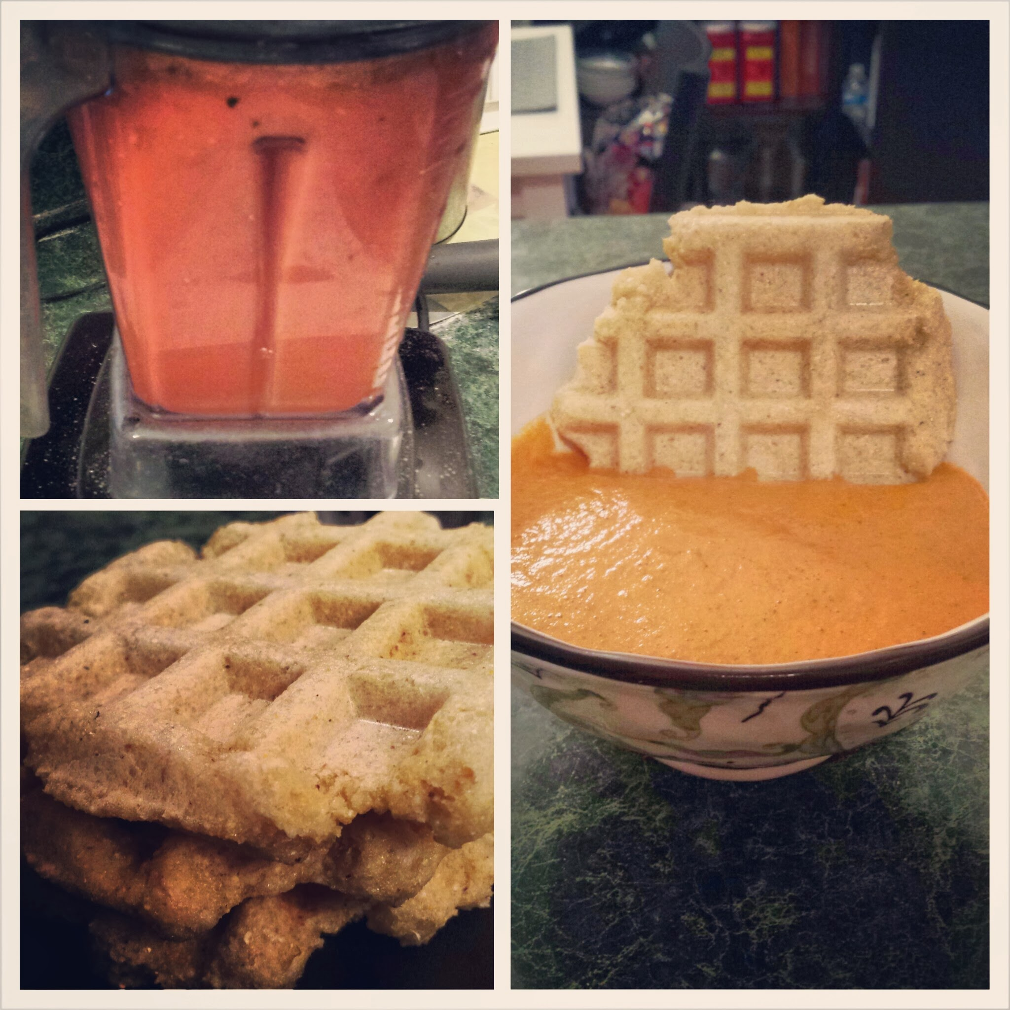 Tomato Soup and Waffles [Vegan/Gluten Free]